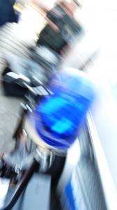 Blaulicht am Fahrrad